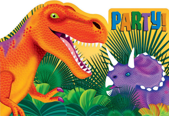 Party Invitations - DINO BLAST