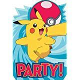 Party Invitations - POKEMON