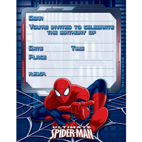 Party Invitations - SPIDER MAN