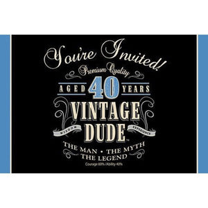 Party Invitations - VINTAGE DUDE (40)
