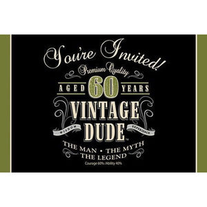 Party Invitations - VINTAGE DUDE (60)