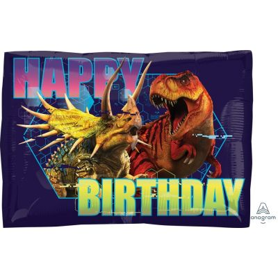45cm Foil Balloon - DINOSAUR - JURASSIC WORLD