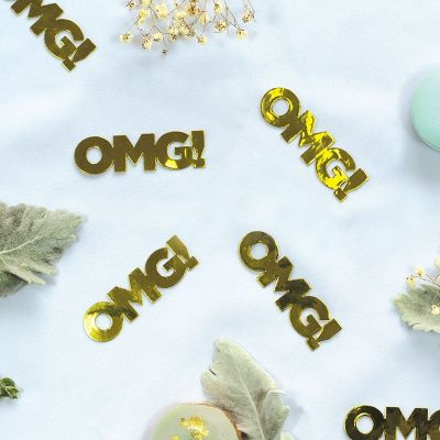 JUMBO Confetti Table Scatters - OMG - GOLD