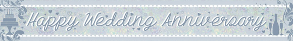 Banner - Happy Wedding Anniversary (Holographic)
