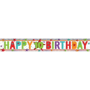 Banner - Happy 10th Birthday (Holographic)