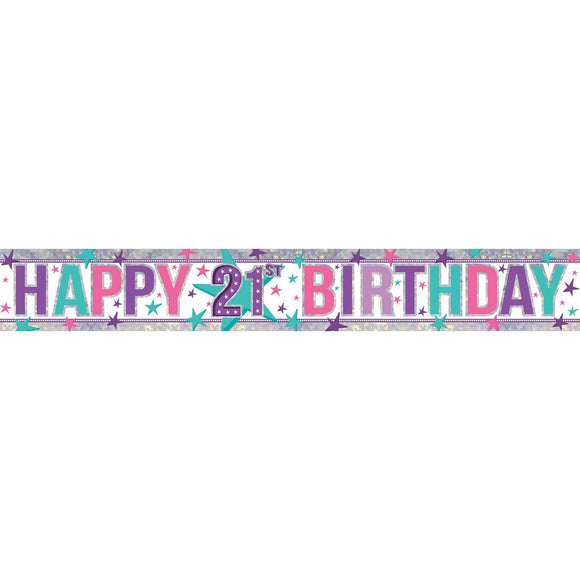 Banner - Happy 21st Birthday (Holographic)
