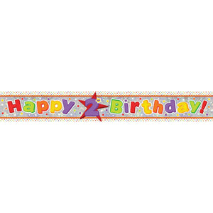 Banner - Happy 2nd Birthday (Holographic)