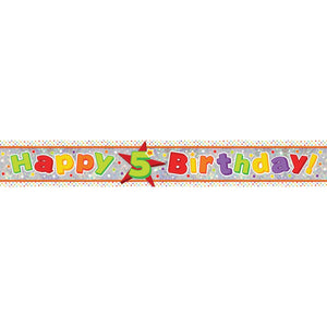 Banner - Happy 5th Birthday (Holographic)