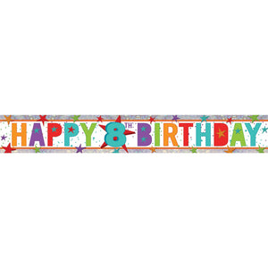 Banner - Happy 8th Birthday (Holographic)