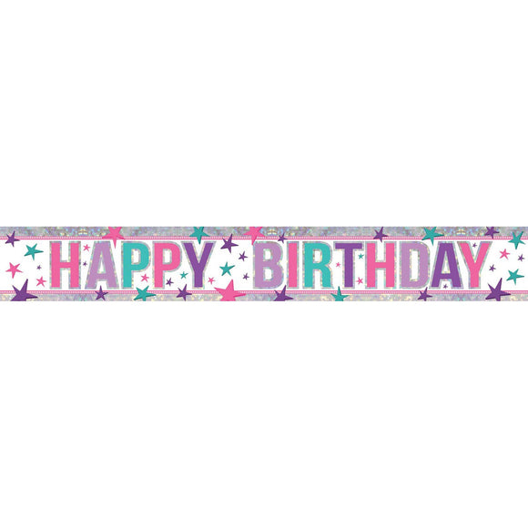Banner - Happy Birthday (PINK/PURPLE/TEAL)