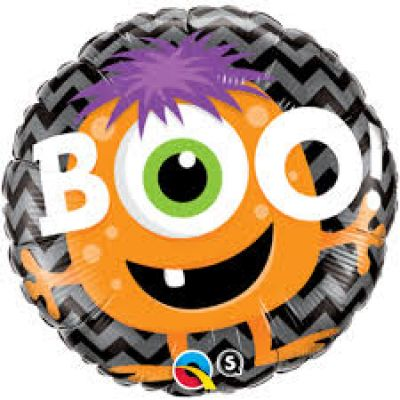45cm Foil Balloon - MONSTER BOO
