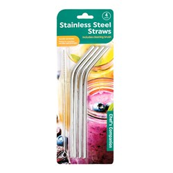 Stainless Steal Straws - Pack of 4