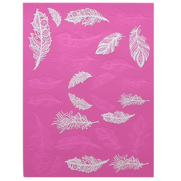 Cake Lace - Feathers Mat