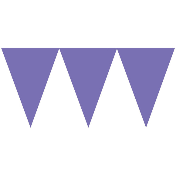 Bunting Flags (Pennant Banners) - PURPLE
