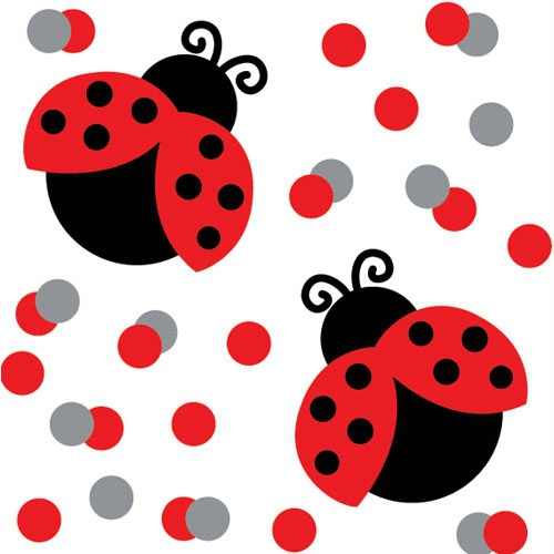 Confetti Table Scatters - LADY BUGS
