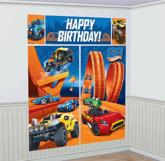 Scene Setter Wall Decorating Set - HOT WHEELS