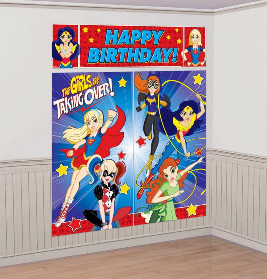 Scene Setter Wall Decorating Set - DC SUPER HERO GIRL