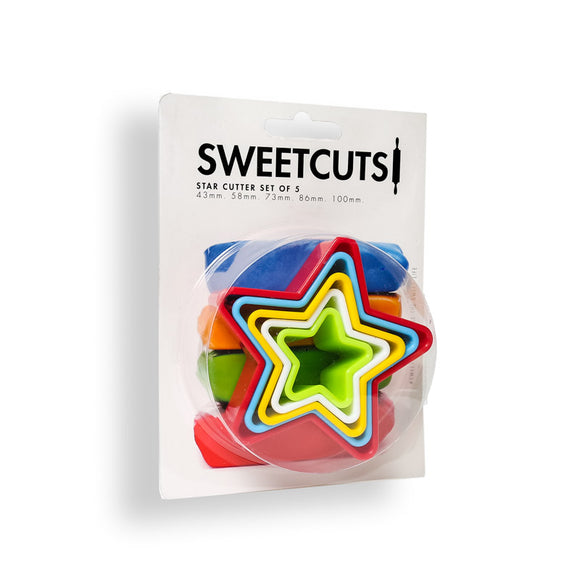 SWEETCUTS Cookie Cutter Set of 5 - STAR