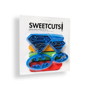 SWEETCUTS Cookie Cutter Set of 4 - SUPER HERO