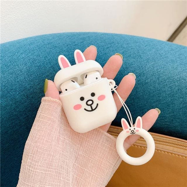 3D Cute Cartoon Apple Airpods Case - A01 - Earphone Cases