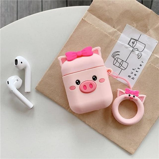 3D Cute Cartoon Apple Airpods Case - A08 - Earphone Cases