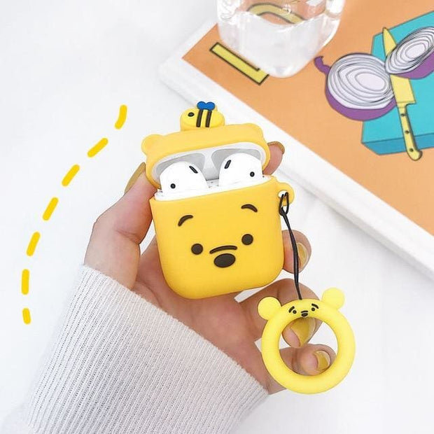 3D Cute Cartoon Apple Airpods Case - A09 - Earphone Cases