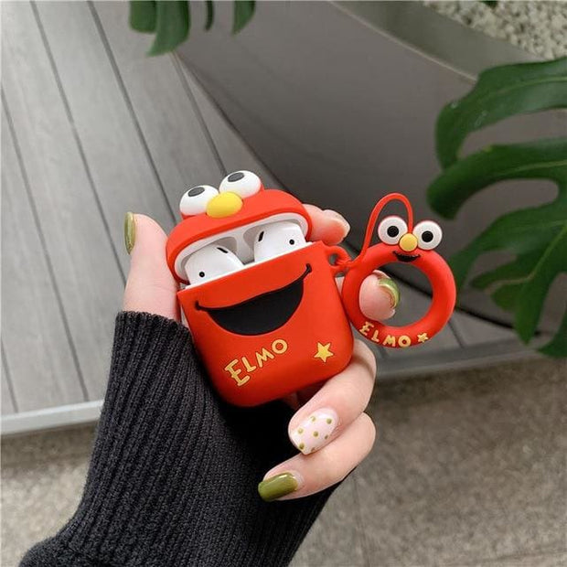 3D Cute Cartoon Apple Airpods Case - A18 - Earphone Cases