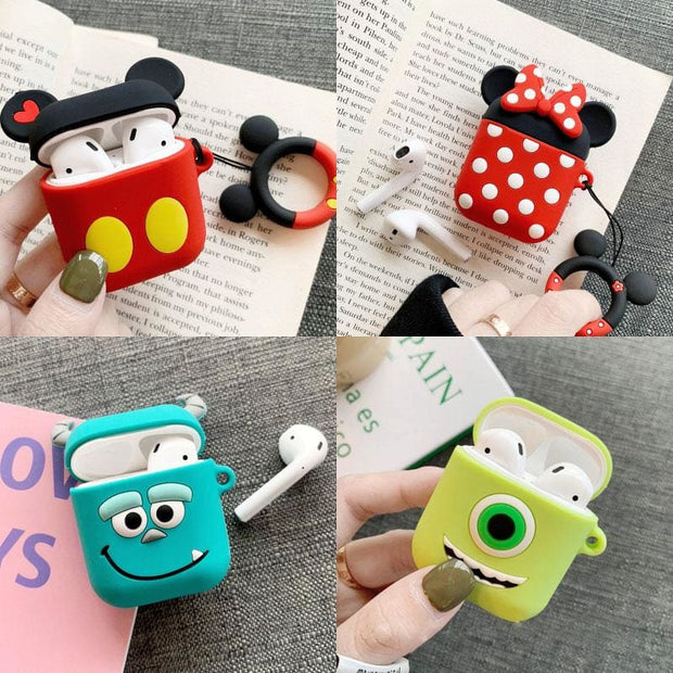 3D Cute Cartoon Apple Airpods Case - Earphone Cases