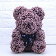 Adorable Roses Teddy Bear - Coffee 40cm - Christmas