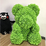 Adorable Roses Teddy Bear - Green 40cm - Christmas