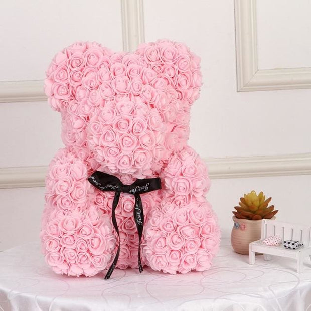 Adorable Roses Teddy Bear - Light Pink 40cm - Christmas