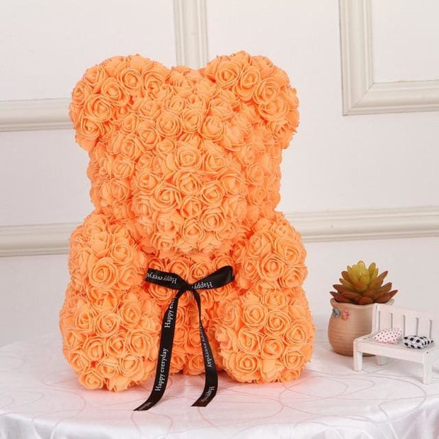 Adorable Roses Teddy Bear - Orange 40cm - Christmas