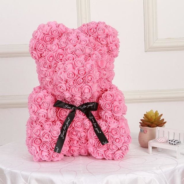 Adorable Roses Teddy Bear - Pink 40cm - Christmas