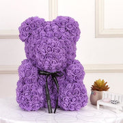 Adorable Roses Teddy Bear - Purple 40cm - Christmas