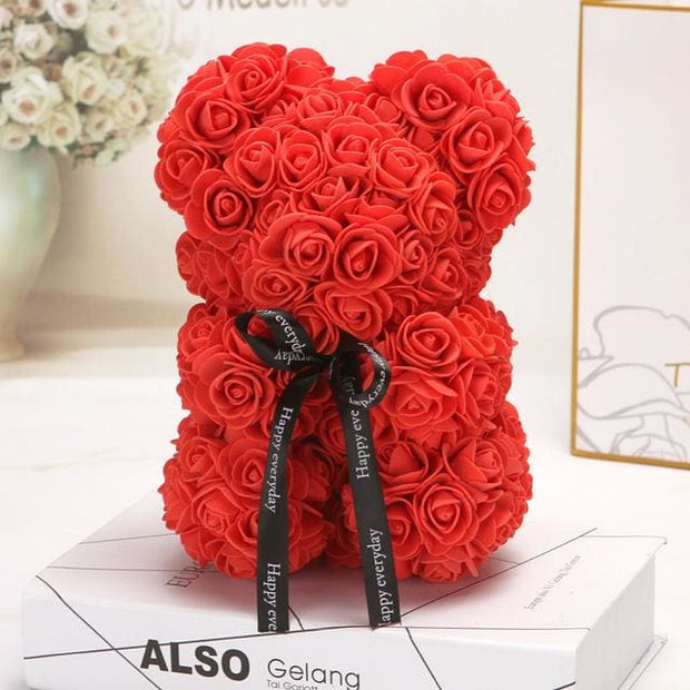 Adorable Roses Teddy Bear - Red 25cm - Christmas
