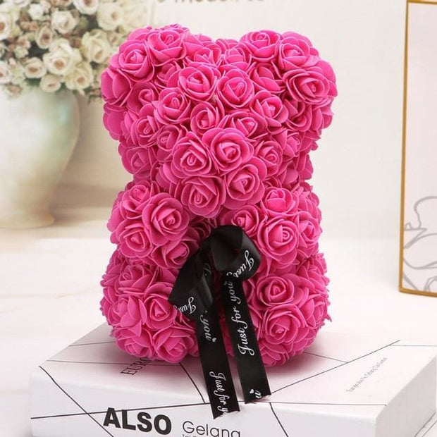 Adorable Roses Teddy Bear - Rose Red 25cm - Christmas