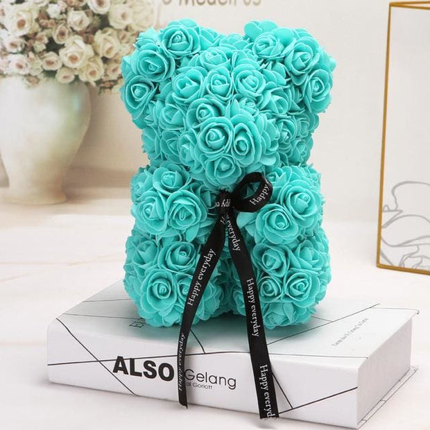 Adorable Roses Teddy Bear - Tiffany 25cm - Christmas