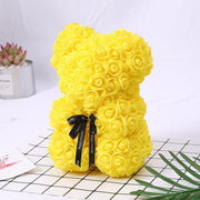 Adorable Roses Teddy Bear - Yellow 25cm - Christmas