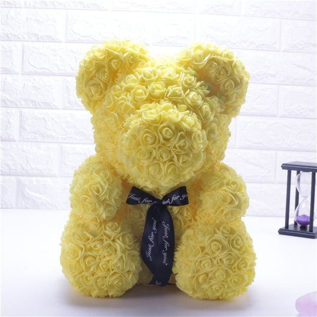 Adorable Roses Teddy Bear - Yellow 40cm - Christmas