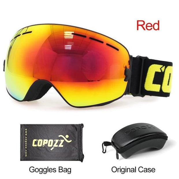 Anti-fog Ski Goggles - Black Red with box - Cool Gadgets