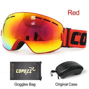 Anti-fog Ski Goggles - Frame red with box - Cool Gadgets