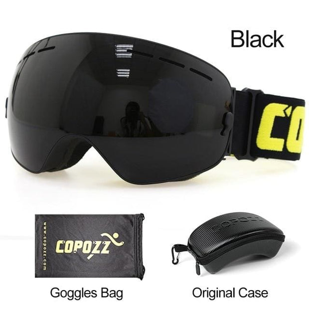 Anti-fog Ski Goggles - Lens black with box - Cool Gadgets