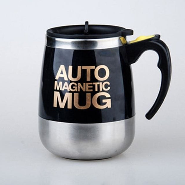 Automatic Magnetic Self Stirring Mugs - BLACK MAGNETIC / 401-500ml - Cool Gadgets