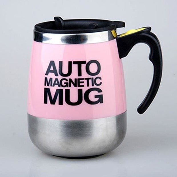 Automatic Magnetic Self Stirring Mugs - PINK MAGNETIC / 401-500ml - Cool Gadgets