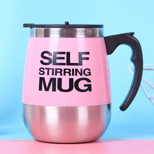 Automatic Magnetic Self Stirring Mugs - Pink / 401-500ml - Cool Gadgets