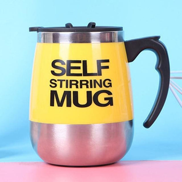 Automatic Magnetic Self Stirring Mugs - Yellow / 401-500ml - Cool Gadgets