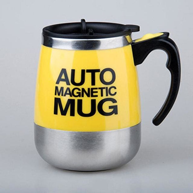 Automatic Magnetic Self Stirring Mugs - YELLOW MAGNETIC / 401-500ml - Cool Gadgets
