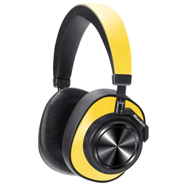 Bluedio Wireless Headphone with Active Noise Cancelling - Yellow - Cool Gadgets