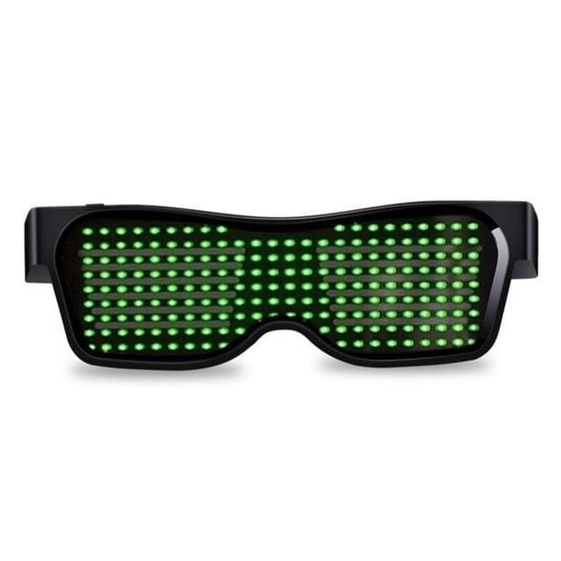 Bluetooth Customized Led Party Glasses - Green / Manual Switch - Cool Gadgets