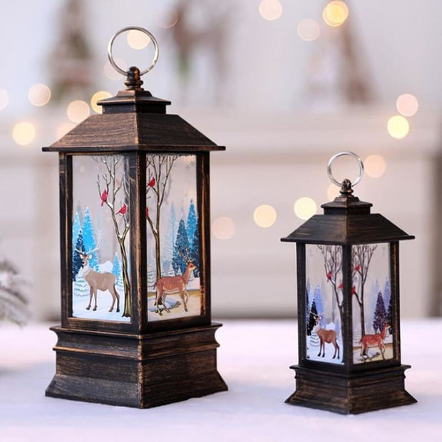 Christmas Candle LED Lantern - Christmas